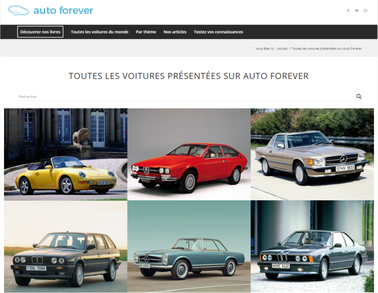Auto Forever French Website view